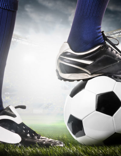Fußballschuh-bestickt